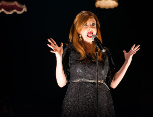 Naomi Price as Adele in the little red company's Rumour Has It. Image by Dylan Evans.